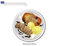Grillat fegt bröst, den populära maträtten av Marshall Islands stock illustrationer