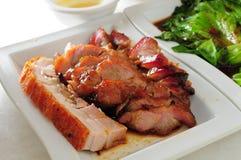 Grillat griskött för grillfestgriskött arkivbilder