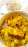 Grillat griskött i curry Royaltyfri Foto