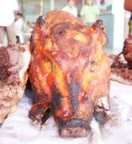 Grillat griskött i Thailand Arkivbild
