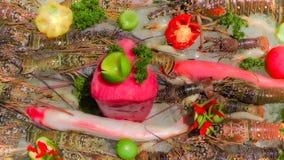 grillat hav för fiskmatparsley platta Royaltyfria Bilder