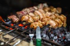 Grillat kött för grillfest BBQ Royaltyfria Foton