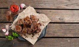 Grillat kött (kebaben) Arkivfoto