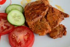 Grillat kött med grönsaker Royaltyfria Bilder