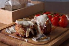 Grillat kött som slås in i bacon Royaltyfri Bild