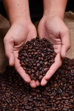 grillat kaffe Royaltyfri Fotografi