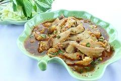 grillat kryddigt thai för porksallad Royaltyfri Bild