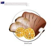 Grillat lamm, den populära maträtten av Nya Zeeland royaltyfri illustrationer