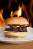grillat nytt för cheeseburger royaltyfri foto