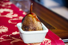 Grillat päron för en läcker och sund efterrätt Fotografering för Bildbyråer