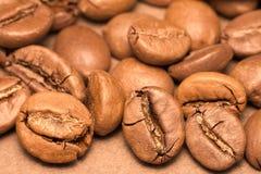 grillat svart kaffe för bönor Fotografering för Bildbyråer