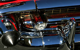 Grille of a '57 Chevy. Sparkling grille of a '57 Chevy Royalty Free Stock Photography