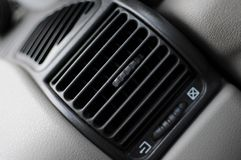 Air conditioner vent grill in a modern car Royalty Free Stock Photo