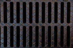 Grille cannelée de drain Image stock