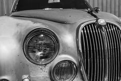 Indianapolis - Circa September 2017: Grille from a classic 60s Jaguar 3.8 S III Royalty Free Stock Photo