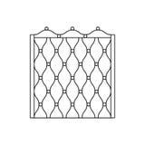 Grille décorative en métal clôturant la conception Photos stock
