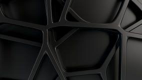 Grille 3d abstraite sur le fond noir illustration stock