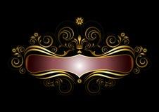 Grille d'origine de cadre d'or avec la couronne dans le style ancien Photos libres de droits