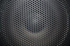 Grille de haut-parleur avec des ouvertures rondes Photographie stock