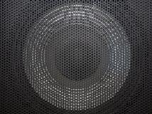 Grille de haut-parleur avec des ouvertures rondes Images stock