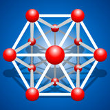 Grille de molécule de vecteur sur le fond Images libres de droits