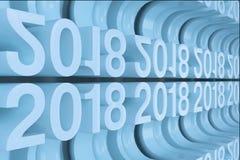 Grille de nouveaux chiffres bleus de 2018 ans Images libres de droits