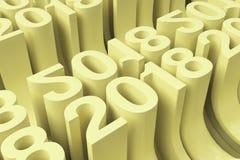 Grille de nouveaux chiffres jaunes de 2018 ans Photo libre de droits