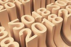 Grille de nouveaux chiffres oranges de 2018 ans Photographie stock