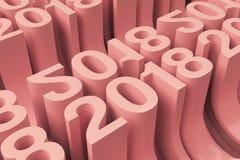 Grille de nouveaux chiffres rouges de 2018 ans Image stock