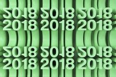 Grille de nouveaux chiffres verts de 2018 ans Photo libre de droits