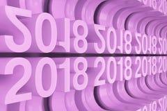 Grille de nouveaux chiffres violets de 2018 ans Photo libre de droits