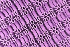 Grille de nouveaux chiffres violets de 2018 ans Images libres de droits