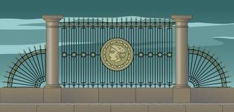 Grille de Pétersbourg, stylization Images libres de droits