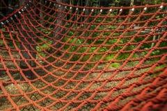 Grille de rouge de corde Photo libre de droits