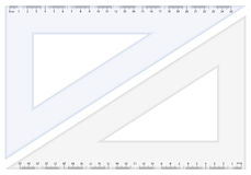 Grille de tabulation de triangle Photos stock