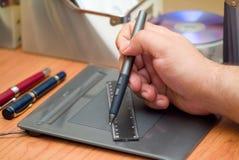 Grille de tabulation et tablette Photo libre de droits