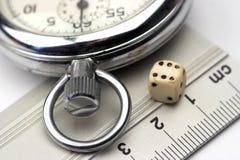 Grille de tabulation, matrices et chronomètre Photographie stock