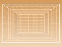 Grille de Wireframe d'intérieur illustration de vecteur
