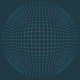 Grille du fond 3d Wireframe futuriste de réseau de fil de technologie de la technologie AI de Cyber Intelligence artificielle Séc illustration de vecteur