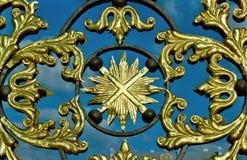 grille figurée d'or Image libre de droits