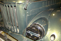 Grille, front bumper and headlight old truck. Grille, front bumper and headlight old Soviet truck stock image