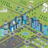 Grille futée de ville futée et réseau sans fil de véhicule illustration libre de droits