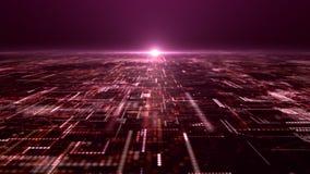 Grille futuriste de particules de Matrix d'abrégé sur Digital photographie stock libre de droits