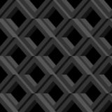 Grille grise sur le fond noir Configuration géométrique sans joint abstraite illustration stock