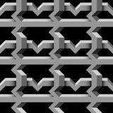 Grille grise sur le fond noir Modèle 3d géométrique sans couture abstrait illustration de vecteur