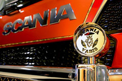 Grille Guard Detail on Scania Super Truck Royalty Free Stock Photos