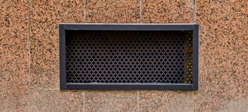 Grille for hoods on the house. Grille for hoods at home, abstract photo, steep, wall royalty free stock photos