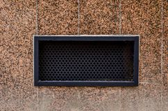 Grille for hoods on the house stock photography