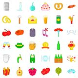 Grille icons set, cartoon style Stock Images