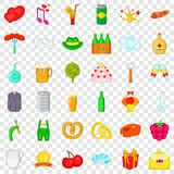 Grille icons set, cartoon style. Grille icons set. Cartoon style of 36 grille vector icons for web for any design vector illustration